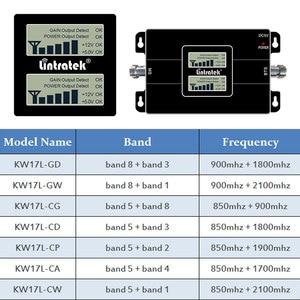 Image 2 - Lintratek двухдиапазонный UMTS CDMA 850 3G 1800 4G 1700 1900 усилитель сигнала 2100 МГц для мобильного телефона 850 МГц повторитель усилитель комплект LCD s7