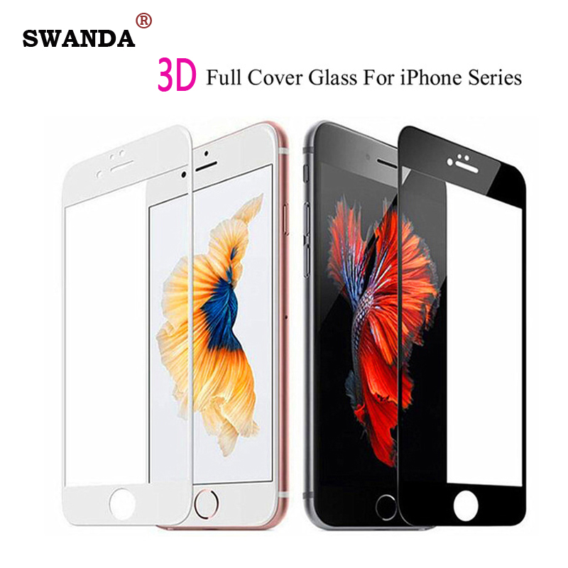 3D screen protector for iphone 7 8 7plus glass on iphone 11 pro max xr xs max tempered glass 6 5 4 protective flim image