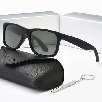 Projektant mody czarne okulary mężczyźni kobiety klasyczny Vintage Retro spolaryzowane okulary przeciwsłoneczne damskie okulary spolaryzowane UV400 4165 tanie i dobre opinie ZHUJI CN (pochodzenie) WOMEN Szkło SQUARE Dla osób dorosłych Z OCTANU NONE 45mm 55mm