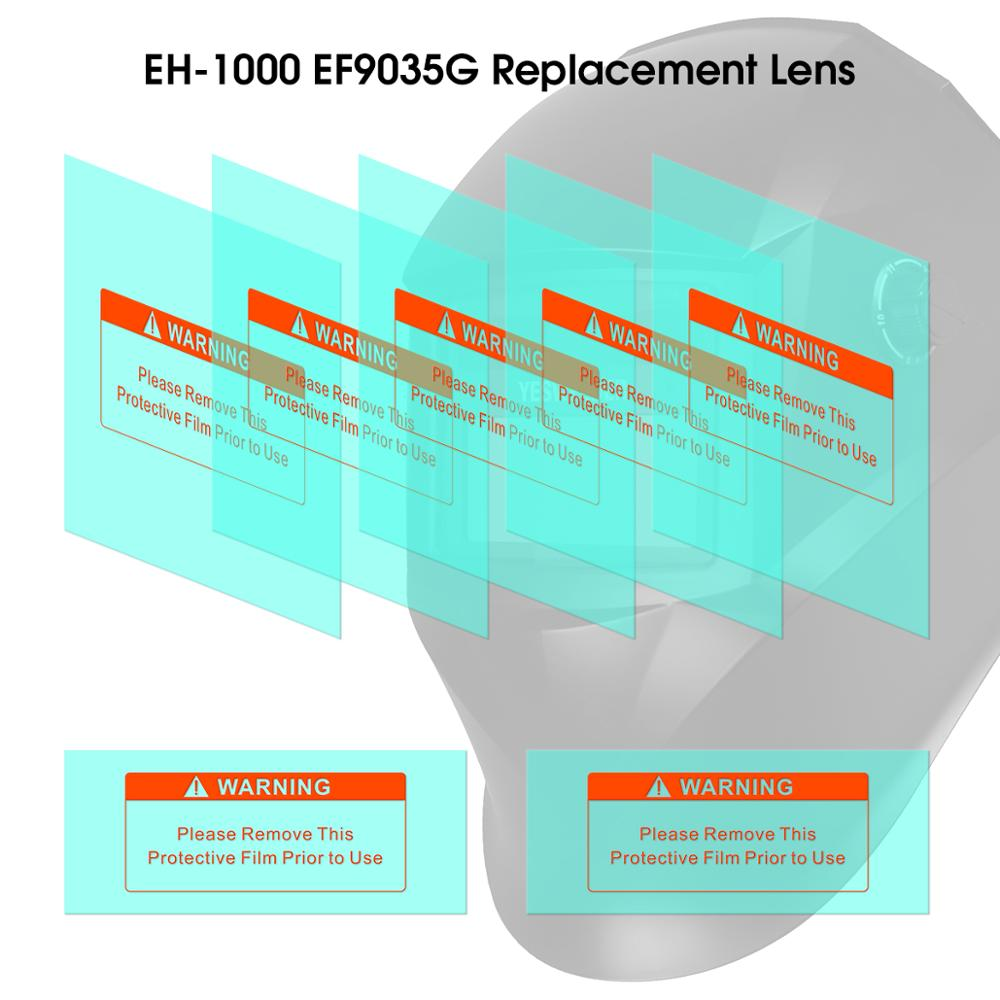 YESWELDER 5PCS Outer Replacement Lens And 2PCS Inner Replacement Lens For EH-1000 EF9035G Welding Helmet