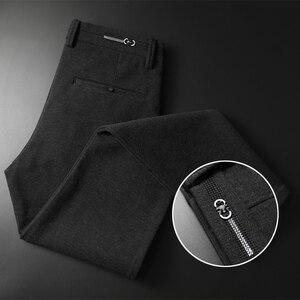 Image 2 - Pantalon en tricot épais pour hommes, vêtement de marque épais, avancé, extensible et à la mode, nouvelle collection automne et hiver 2019