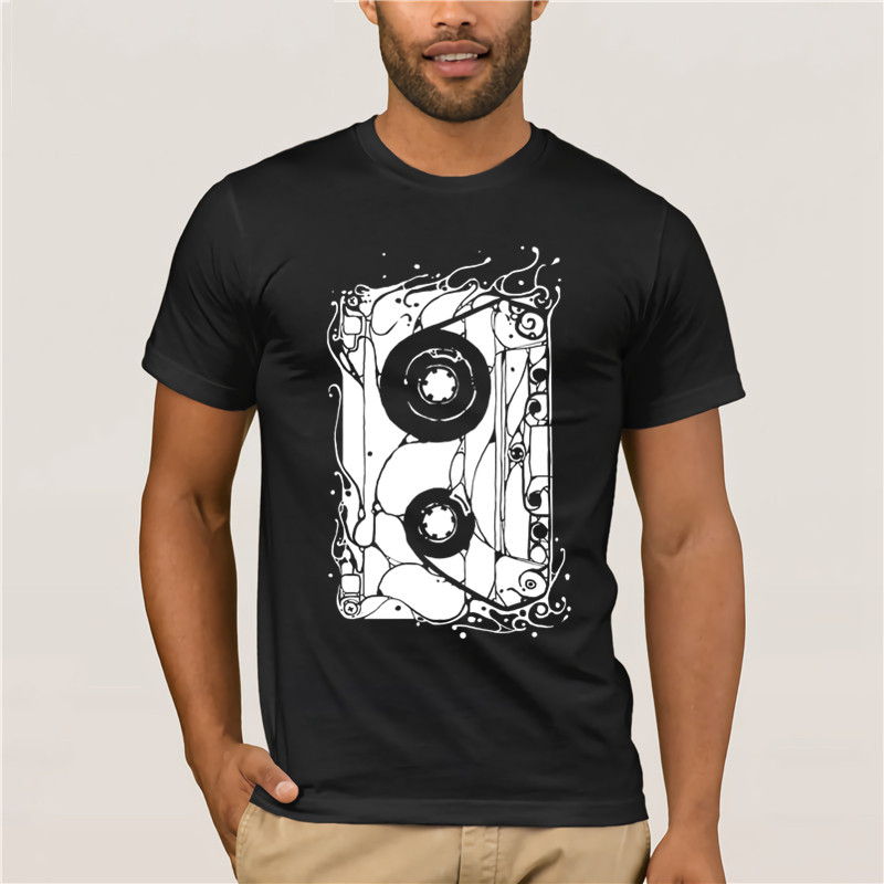 2020 Fashion T shirtOld Pattern Cassette Graphic s For Vintage House Music <font><b>AF</b></font> <font><b>Tshirt</b></font> HappyMen <font><b>Tshirt</b></font> image