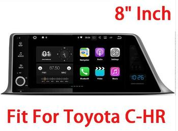 """9"""" Quad core  Android 9.0 Car GPS radio Navigation for Toyota C-HR 2007-2018 with 4G/Wifi, DVR OBD 1080P"""