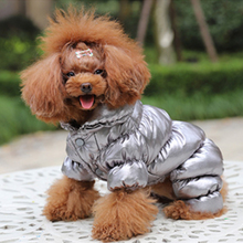 Pet Dog Jumpsuit Winter Thickening Cotton Four-legged Warm Down Jacket Pets Puppies Body