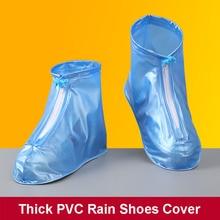 Shoe-Cover Overshoes Rain-Boot Anti-Skid Dustproof Reusable High-Rain for Men Woman Galoshes