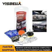VISBELLA Headlight Restoration Polishing Kits Headlamp Lens Repair Clean Paste Systems Car Wash Visibility Security Paint Care