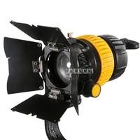 New FC 500A Film Spotlight Portable High quality 5600K/3200K 50W LED Spotlight Photographic Lamp AC90 260V/DC12 24V 5 50 Degree
