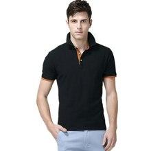 Męskie koszulki Polo męskie bawełniane koszulki Polo męskie koszulka Polo z krótkim rękawem męskie topy slim Casual oddychające jednokolorowe koszule biznesowe