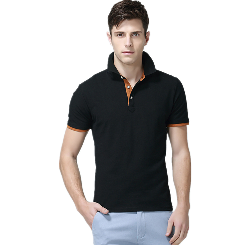 Man Polo Shirts Mens Casual Cotton Polo Shirt Men Short Sleeve Polo Men Slim Tops Casual Breathable Solid Color Business Shirts