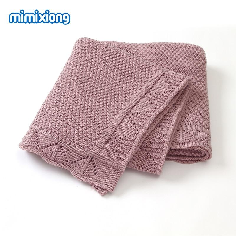 Baby Blankets Knitted Newborn Soft Warm Swaddle Wrap Stroller Blankets 100*80cm Infant Kids Bebes Bedding Quilts MultifunctionsV