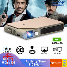CAIWEI S7+ Mini Portable DLP Projector 3D Cinema Home Theater Outdoor Video Movi
