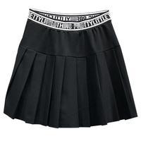2019 spring summer new preppy style anti light mini skirt letter women high waist pleated skirt