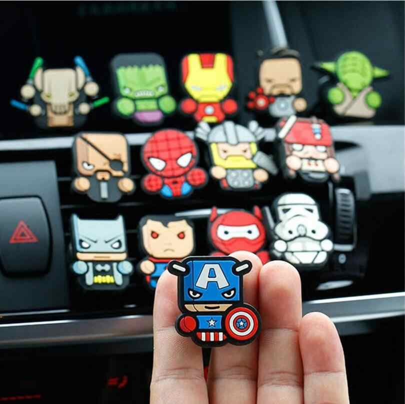Cartoon Luchtverfrisser Auto Styling Parfum De Avengersed Speelgoed Voor Airconditioning Vent Outlet Superman Batman Fashion Cool
