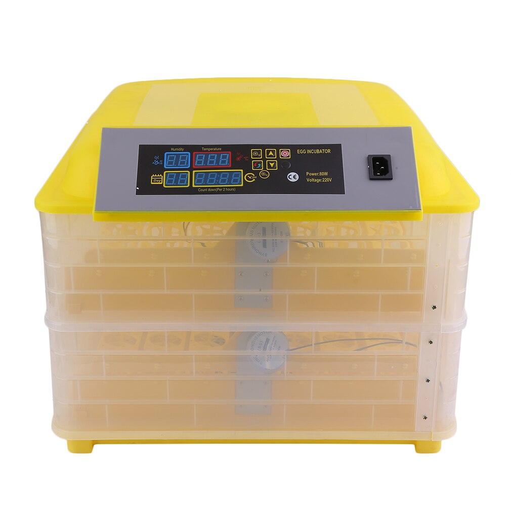 Профессиональная автоматическая курица 96 инкубатор для яиц утка яйцо птицы оборудование для инкубаторов контроль температуры инкубаторов инкубаторная машина Великобритания вилка - 5