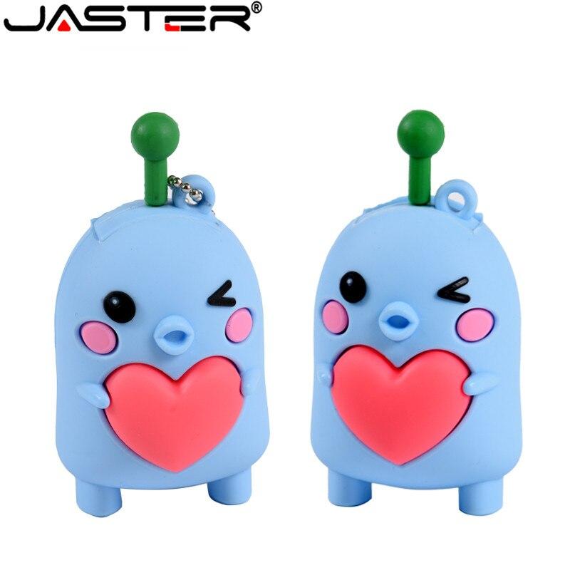 JASTER Lovely Cartoon USB Flash Drive Pen Drive 4GB 16GB Flash Drives 32GB 64GB Pendrive USB 2.0 Flash Memory Stick Free Ship