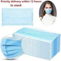 Os navios dentro de 12 horas anti máscara protetora descartável da poluição da poeira da gripe enfrentam a purificação de ar do filtro facial da alergia|Másc.| |  -