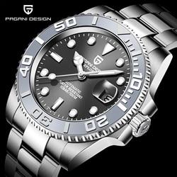 PAGANI Design Men Automatic Watch Sapphire Luxury Mechanical Wristwatch Stainless Steel Waterproof Watch Men Mekaniska klockor