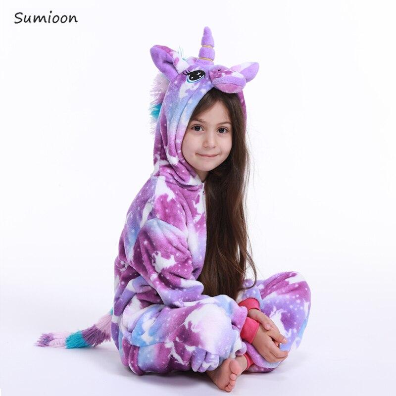 Winter Kigurumi Pajamas Unicorn For Children Baby Girls Pyjamas Boy Sleepwear Animal Panda Licorne Onesie Kids Costume Jumpsuit