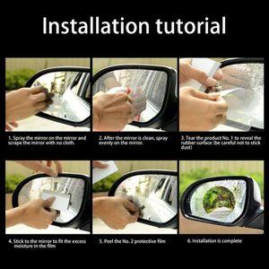 Image 5 - 2 יח\סט אטים לגשם רכב אביזרי רכב מראה חלון ברור סרט קרום אנטי ערפל נגד בוהק עמיד למים מדבקת נהיגה בטיחות