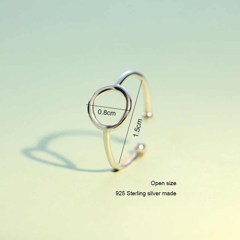 Trusta 100% 925 เงินสเตอร์ลิงแฟชั่นเครื่องประดับรอบแหวนค็อกเทลเส้นผ่านศูนย์กลางภายใน 1.3 ซม.ขนาดใหญ่เด็กหญิง Xmas ของขวัญ DS173