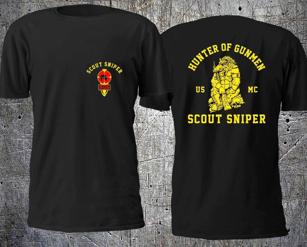 Fashion Hot New Hunter Of Gunmen Scout Sniper <font><b>Usmc</b></font> <font><b>T</b></font> <font><b>Shirt</b></font> Size S-4Xl Tee <font><b>Shirt</b></font> image
