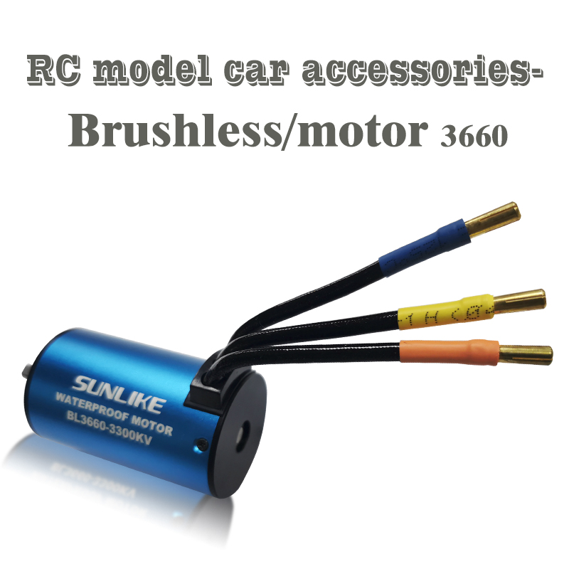 RC Car 1:10 Parts SL3660 Waterproof 3300KV 3800KV Brushless Motor RC Car Boat Model Toy Motor 60A 80A ESC 2
