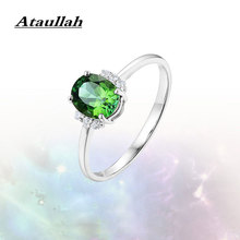 Ataullah Red Ruby Emerald Sapphire Gemstone Rings for Women Sterling 925 Silver Jewelry Fashion Adjustable Ring Gift RW081