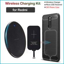 Chargeur sans fil pour Xiaomi Redmi 5 6 7 5A 6A 7A 9A Note 5 5A Pro Plus Qi chargeur sans fil + Micro USB récepteur cadeau étui en TPU