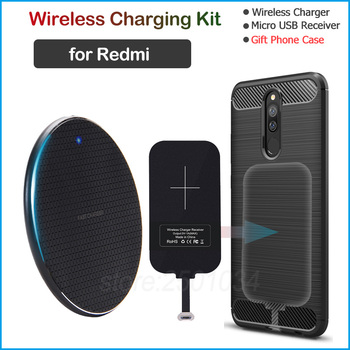 Wireless Charging for Xiaomi Redmi 5 6 7 5A 6A 7A 9A Note 5 5A Pro Plus Qi Wireless Charger+Micro USB Receiver Gift TPU Case