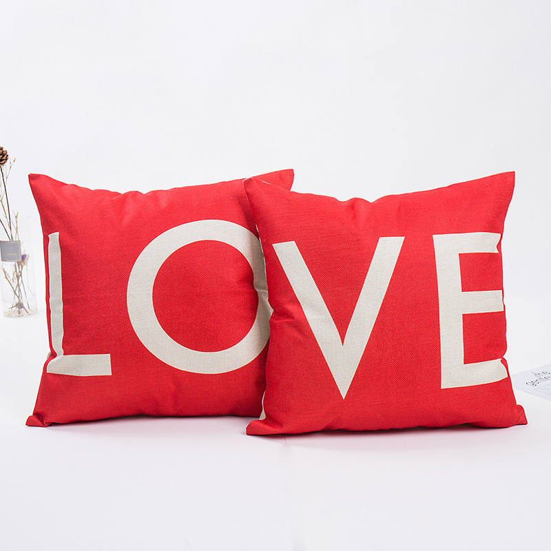 45*45cm Happy Valentine's day Heart Lover Cushion Cover Romantic Birthday Valentines Decoration Wedding Event Party Supplies