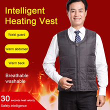 Men Autumn Winter USB Charging Heating Vest Smart Electric Heating Vest Warm Vest 5 Zone Heating Coat Washable Thermal cheap NoEnName_Null CN(Origin) Polyester zipper N161 NONE Solid Regular Collarless Outerwear Coats Pockets Outdoor