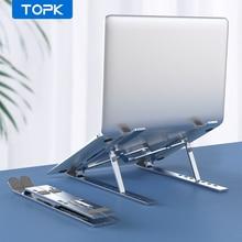 Stojak na laptopa TOPK L40 do MacBook Air Pro regulowany uchwyt na laptopa przenośny składany stop Aluminium do notebooka PC