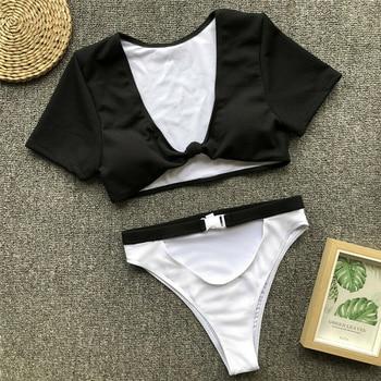 Swimsuit Women Bikini Set High Waist Bathing Suit Ladies Beachwear Biquinis Feminino 2019 Bathing Suit Women Swimming Suit