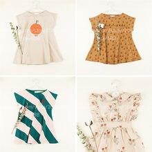 Robe d'été à la mode pour enfants, vêtements élégants, liquidation sans étiquette ni marque