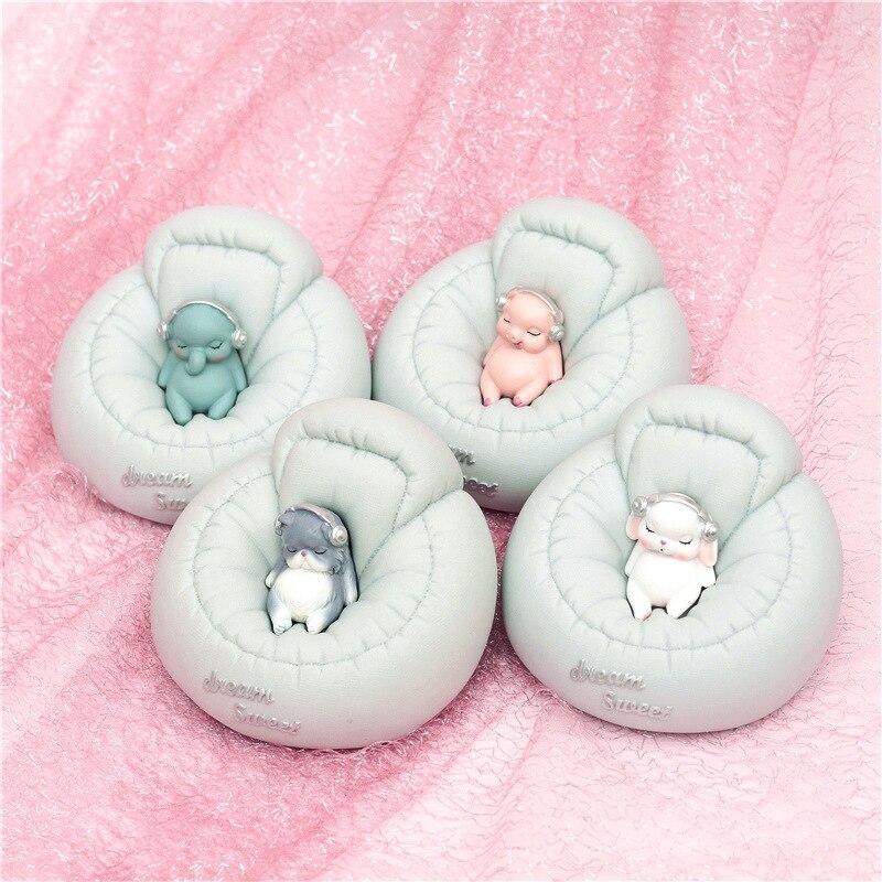 Cartoon Animal Piggy Bank 2 In 1 Money Coins Storage Box Sofa Animal Figurines Miniatures For Children Gifts Home Decoration