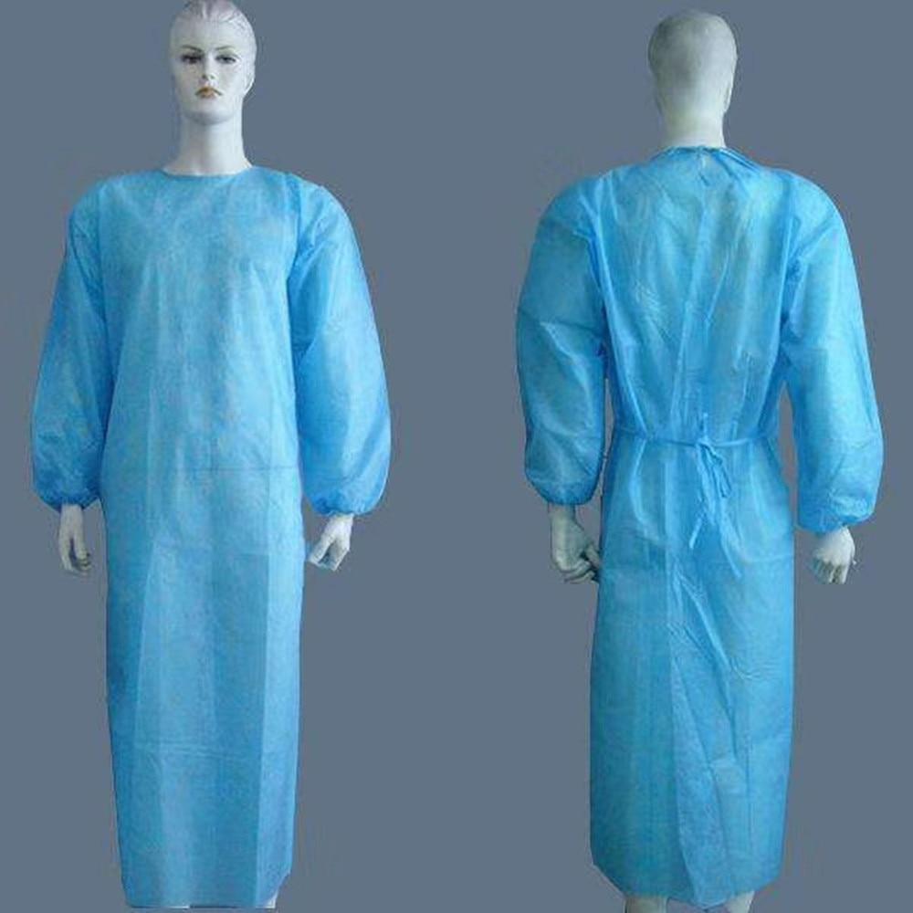 Unisex Disposable Non Woven Drawstring Isolation Breathable Overall Protection Suit Beschermende Kleding Hooded Pak Stofdicht