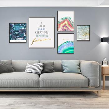 Nordic Tree Ring abstrakcyjny wzór artystyczna dekoracja twórczy złoty folia niebieski marmur malarstwo ścienne minimalistyczne litery modny plakat tanie i dobre opinie WXPYU CN (pochodzenie) Wydruki na płótnie Pojedyncze PŁÓTNO Olej abstrakcyjne bez ramki Nowoczesne YZ-123 Malowanie natryskowe