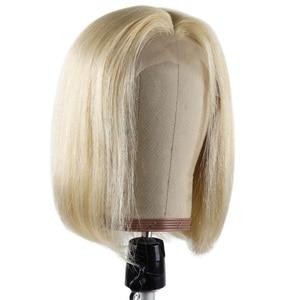 Парик BHF блонд 613, бразильский парик Remy, прямые короткие человеческие волосы