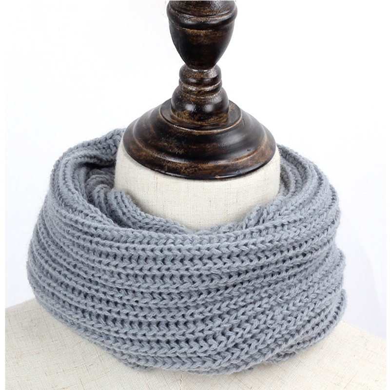 Children Scarf Suitable Adult Baby Warm Scarves Girls Winter Scarf For Kids Wool Collar Baby Knitting Solid Colors Scarves Cover