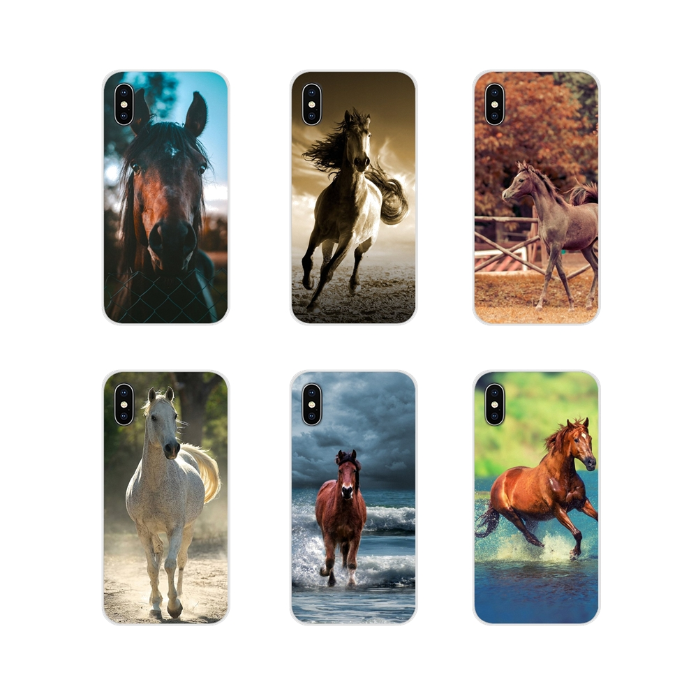 Accessories Phone Cases Covers Horse Animal For Huawei G7 G8 P7 P8 P9 P10 P20 P30 Lite Mini Pro P Smart Plus 2017 2018 2019