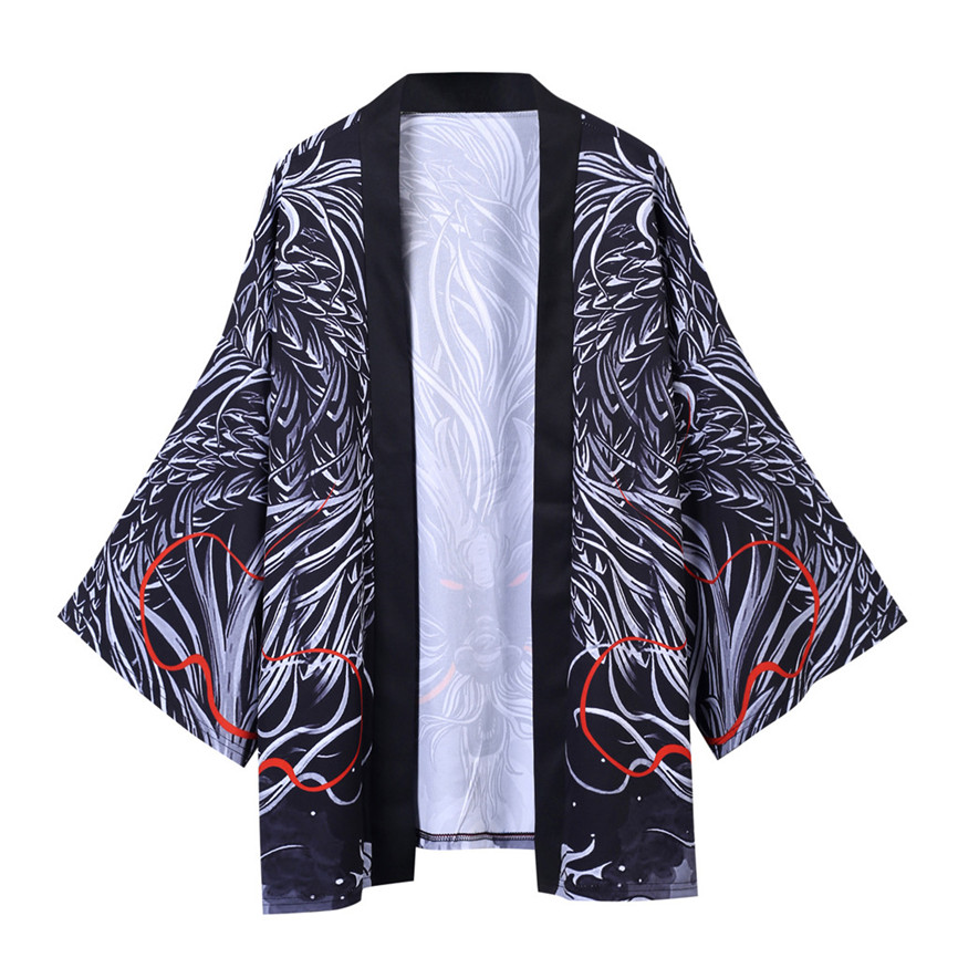 He59cfd7370004c9caf53756c8451bff4l Men's Windbreaker Coat Autumn Long Sleeve Lovers Fashion Retro Robe Loose National Print Creative Top Outwear Plus Size M-2XL A3