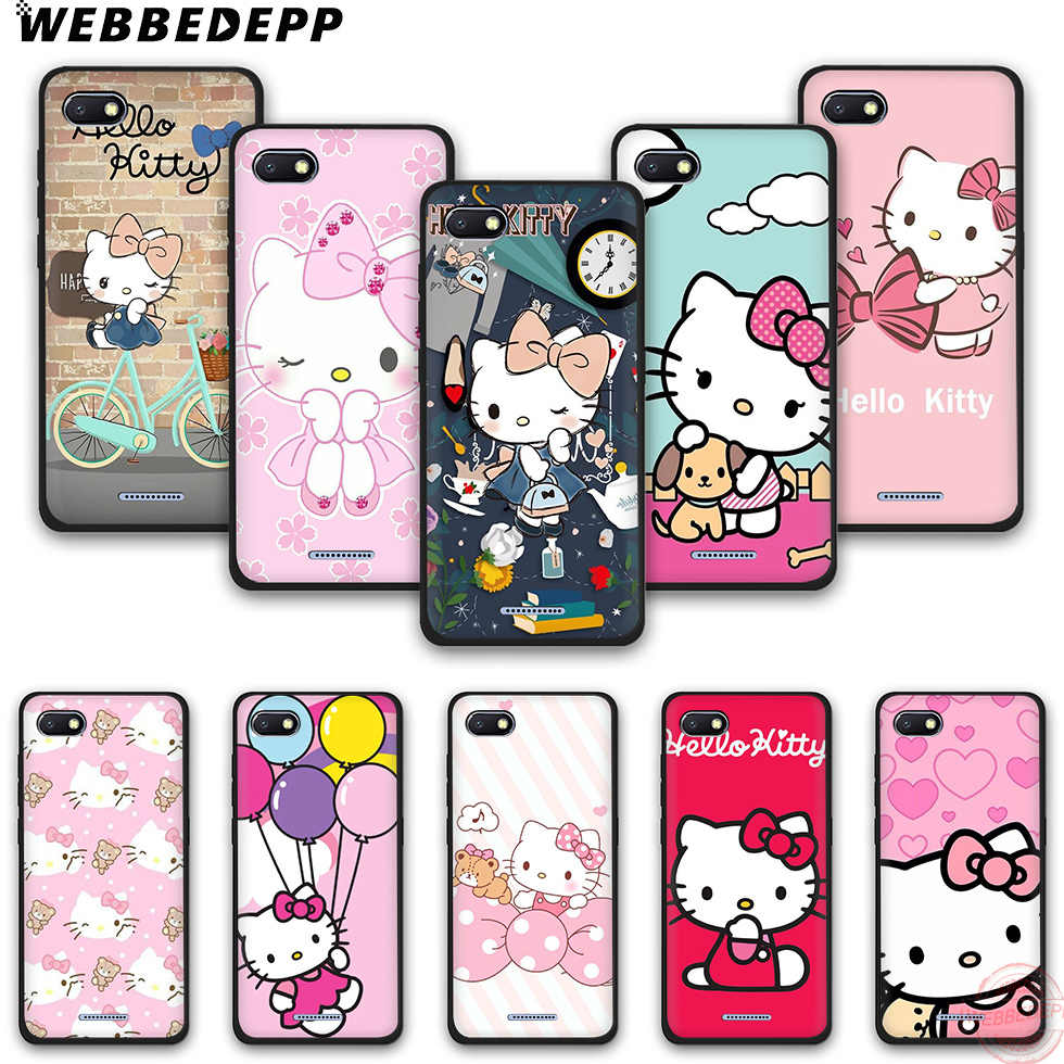 Webbedepp Thời Trang Hello Kitty Silicone Mềm Ốp Lưng Điện Thoại Redmi Note 6Pro 7Pro 4A 4X5 5A 6A 8A 6Pro 7 S2 Note 8