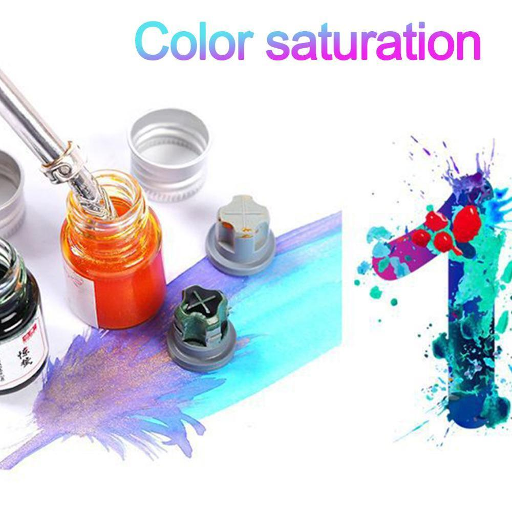 5ml Colorful Writing Ink Fountain Pen Glass Bottle Gold Powder Ink Office School Stationary Supplies Student Drawing Graffiti