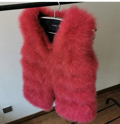 Вязаный жилет из натурального меха страуса, роскошный Фабричный OEM заказной меховой жилет из турецких перьев WSR115 - Цвет: Бургундия