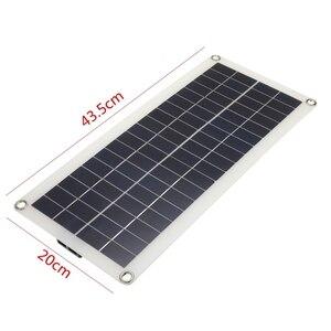 Image 4 - 25 واط المزدوج أوسب 12 فولت لوحة طاقة شمسية مع شاحن سيارة الناتج 10/20/30/40/50A أوسب شاحن بالطاقة الشمسية تحكم للتخييم في الهواء الطلق مصباح ليد