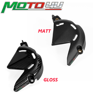 MOTO4U For Ducati Panigale V4 V4S 2018 2019 Gloss/Matt 100% Carbon Fiber Engine Chain Sprocket Cover Guard