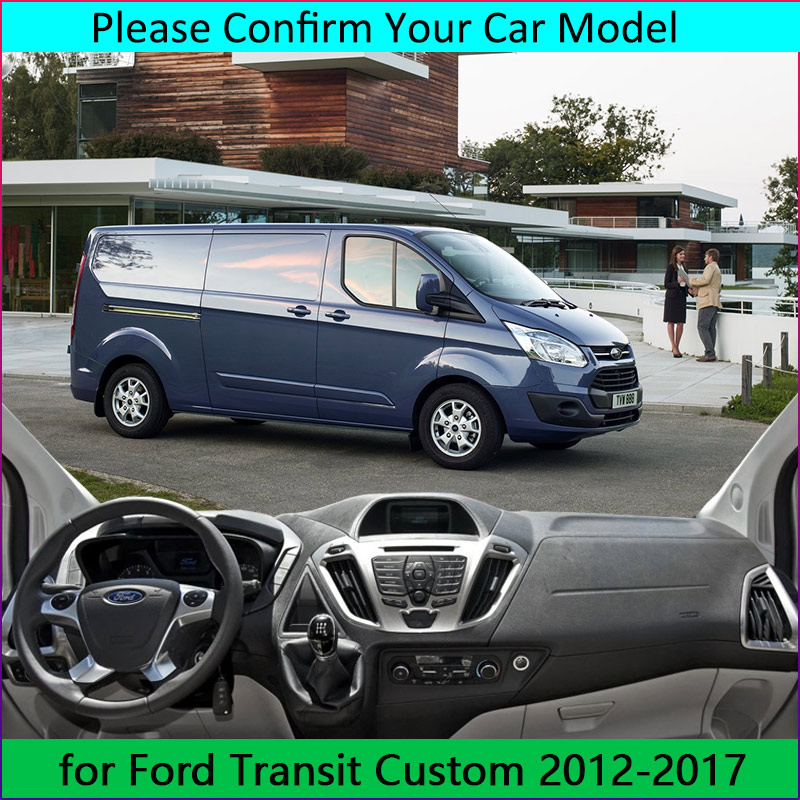 Armaturenbrett Abdeckung Sonnenschutz rutschfeste Dash Mat Pad Pad Teppich Auto Aufkleber Innenzubeh/ör HKPKYK F/ür Ford Tourneo Custom 2016-2017