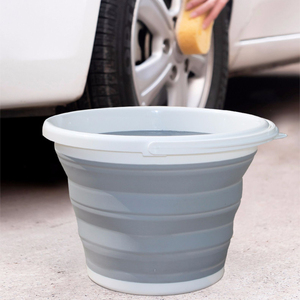 Image 4 - 10L Portable Folding Bucket Outdoor Fishing Tourism Camping Supplies Foldable Buckets Car/ Mop Washing Cleaning Household Items
