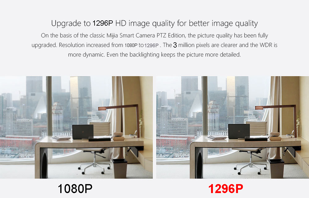 Xiaomi 2k câmera inteligente 1296p 360 ângulo