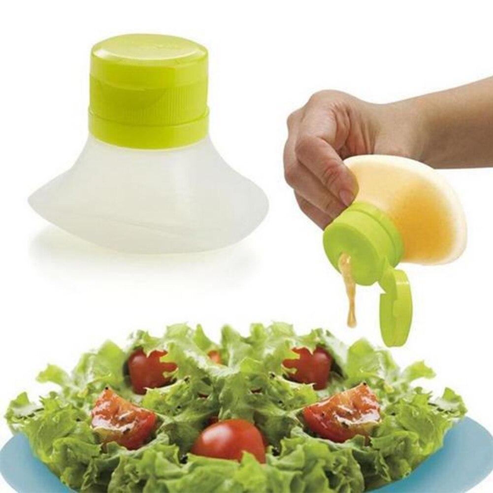 Portable Salad Dressing Squeeze Bottle Kitchen Tool Container Sauce Cream Oil Jam Castor Salad Mini Bottle Squeeze #63